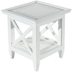 Dekoria stolik enzo white 45x45x50cm, 45 × 45 × 50 cm