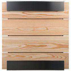 Skrzynka na listy Keilbach Glasnost Wood modrzew, 07 1500