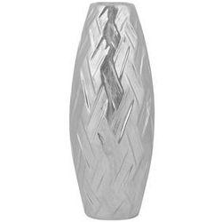 Beliani Dekoracyjny wazon na kwiaty srebrny arpad