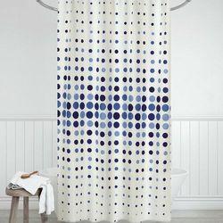 Zasłona prysznicowa Kropki niebieski, 180 x 200 cm (8592325101491)