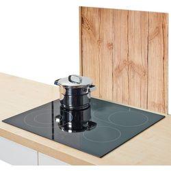 Zeller Szklana płyta ochronna wood na kuchenkę – duża,  (4003368262888)