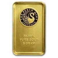 5g sztabka złota mennica Perth Mint Australia