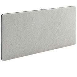 Ścienny panel dźwiękochłonny Zip 1400x650 mm jasnoszary czarny suwak