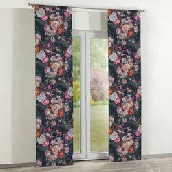 Dekoria zasłony panelowe 2 szt., wielobarwne kwiaty na ciemnym tle, 60 × 260 cm, gardenia