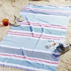 Dekoria  ręcznik plażowy funky stripe 80x150cm nautical, 80x150cm