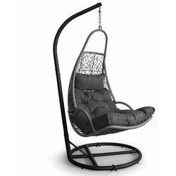 Huśtawka ogrodowa, hamak, fotel wiszący, kosz, ciemny szary (5903769972708)
