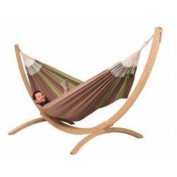 Hamaki la siesta Hamak ze stojakiem drewnianym flora & canoa rodzinny