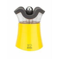 Pep's żółty młynek do pieprzu z solniczką | 8cm marki Peugeot
