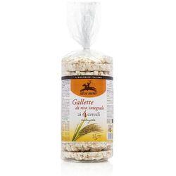Alce Nero: wafle ryżowe pełnoziarniste 4 ziarna BIO - 100 g z kategorii Pieczywo, bułka tarta