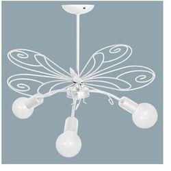 Lampa wisząca dziecięca MOTYL 3xE27/60W biała (5907565953336)
