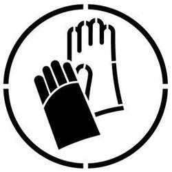 Szablon do malowania znak nakaz stosowania ochrony rąk go009 - 85x85 cm marki Szabloneria
