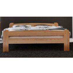 Meble magnat Łóżko drewniane ania 140x200 z materacem kieszeniowym