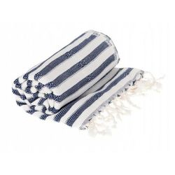 Sauna Łażnia - Hammam Ręcznik 60% Bawełna / 40% Bambus Zebra 5 Granat