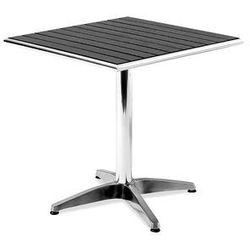 Kwadratowy stół kawiarniany z tworzywa sztucznego imitujcego drewno marki Aj