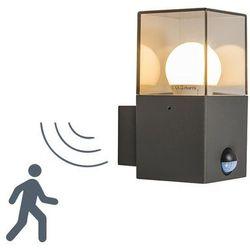 Lampa zewnętrzna ścienna Denmark z czujnikiem ruchu ciemnoszara, kup u jednego z partnerów