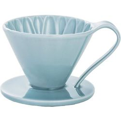 Cafec Flower Dripper - Blue 02 - Arita Ware
