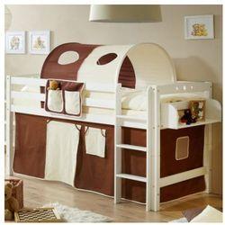 Ticaa kindermöbel Ticaa łóżko piętrowe timmy r buk, biały - brązowy/beżowy