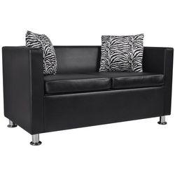 vidaXL Czarna 2 osobowa sofa ze sztucznej skóry - sprawdź w wybranym sklepie