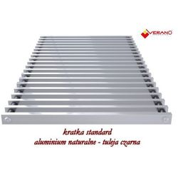 Kratka standard - 25/155 do grzejnika vkn5, aluminium naturalne o profilu zamkniętym marki Verano