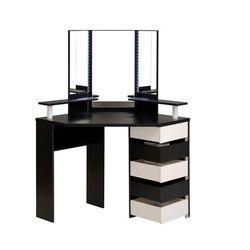 Toaletka marylin - lustro i miejsce na przechowywanie - kolor czarny i biały marki Vente-unique