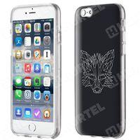 Żelowe etui z nadrukiem Czarny lis iPhone 6S 6 - 21 (Futerał telefoniczny)