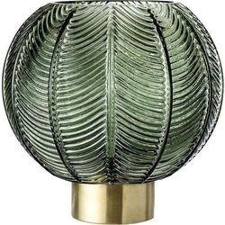 Bloomingville Wazon kula 20 cm zielony ze złotą podstawą (5711173198023)