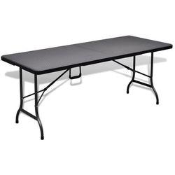 vidaXL Składany stół ogrodowy/kempingowy HDPE 180 cm