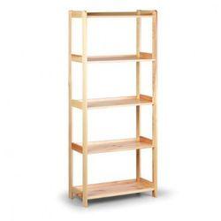 Drewniany regał, 5 półek, 1660x680x335 mm marki B2b partner