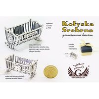 KOŁYSKA SREBRNA - Pamiątka Chrztu Świętego - srebro - wzór SRB011
