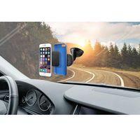 Puro  uniwersalny magnetyczny uchwyt samochodowy do smartfonów + przyssawka (czarny) (8033830162299)