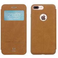 Baseus - Apple iPhone 7 Plus - etui na telefon Baseus Simple Series Leather Case - brązowe