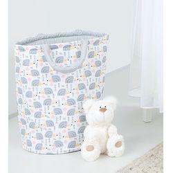 dwustronny kosz na zabawki jeżyki szare / mini kropki szare marki Mamo-tato