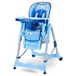 Caretero Magnus regulowane krzesełko do karmienia FUN BLUE NOWOŚĆ z kategorii krzesełka do karmienia