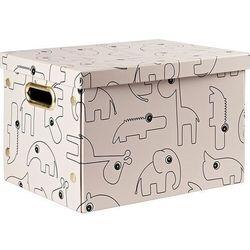 Pudełko do przechowywania prostokątne dots różowe marki Done by deer