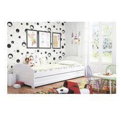 Łóżko Lilka białe 90x200 z materacem, 2452