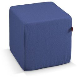 Dekoria  pufa kostka twarda, niebiesko-błękitny szenil, 40x40x40 cm, living