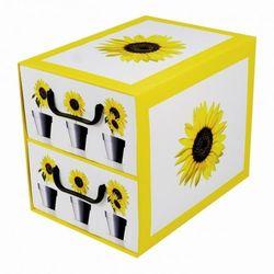 Pudełko kartonowe 2 szuflady pionowe DONICZKI-SŁONECZNIK (doniczka i podstawka)