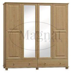 Szafa sosnowa 4d nr3 s180 marki Magnat - producent mebli drewnianych i materacy