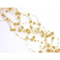 Girlanda perłowa pastelowy złoty - 1,3 m - 5 szt. marki Ap