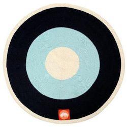 Okrągły dywan - niebieski
