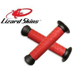 LZS-DDBDS500 Chwyty kierownicy LIZARDSKINS LOGO FLANGE DC 147 mm, czerwone, Lizard Skins z ROWEREK.PL