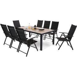 Home & garden Meble ogrodowe aluminiowe capri 185 cm black / sand ibiza black / black 8+1