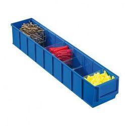 Plastikowy pojemnik do regału Shelfpoj., 91 x 500 x 81 mm, niebieski (4005187565607)