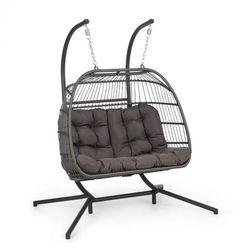 biarritz double, fotel wiszący, dwuosobowy, poduszka na siedzisko, 240 kg, ciemnoszary marki Blumfeldt