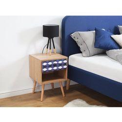 Szafka nocna brązowa 1 szuflada DENVILLE (7105272585149)