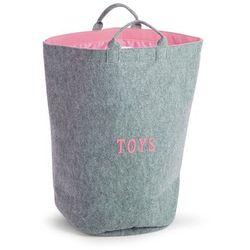 Childhome * Filcowa torba z uchwytami szary z różowym childhome