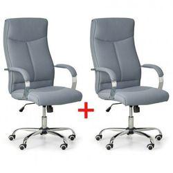 Krzesło biurowe lugo tex 1+1 gratis, szary marki B2b partner