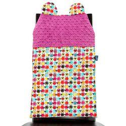 Cuddly Zoo, Owieczki, Cudly back, Raspberry, oparcie na krzesło - produkt z kategorii- Dekoracje i ozdoby dla dzieci