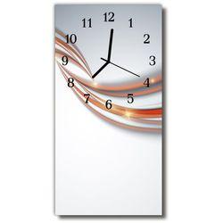 Zegar Szklany Pionowy Sztuka Abstrakcja linie kolorowy