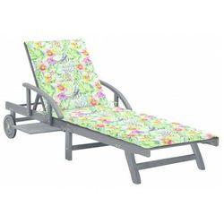 Leżak ogrodowy w kwiatki - Solar, vidaxl_3061341